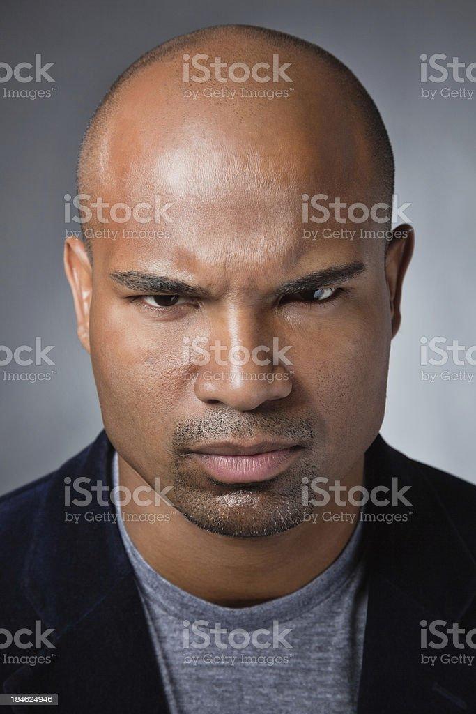 Portrait of an intense man stock photo