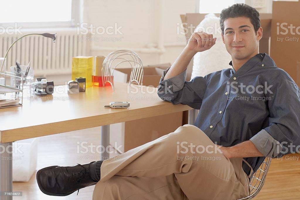 Retrato de um trabalhador de Escritório foto de stock royalty-free