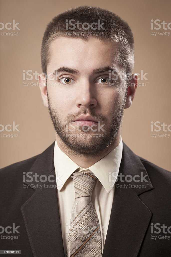 Portrait of an old fashioned young man royalty-free stock photo
