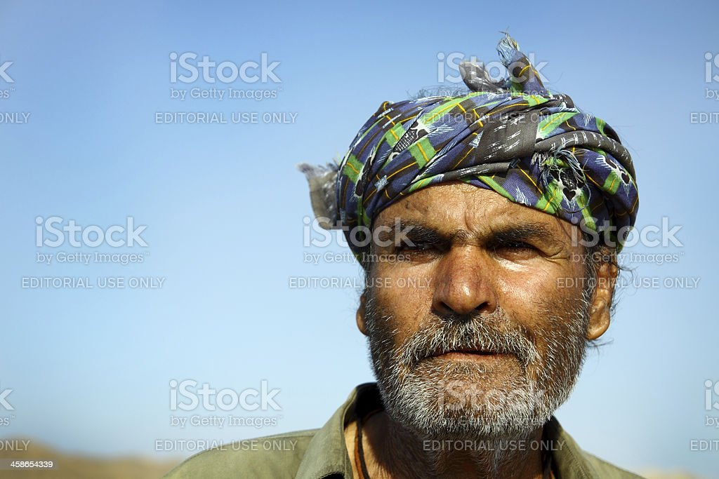 Portrait of an old Pakistani Camel Owner royalty-free stock photo