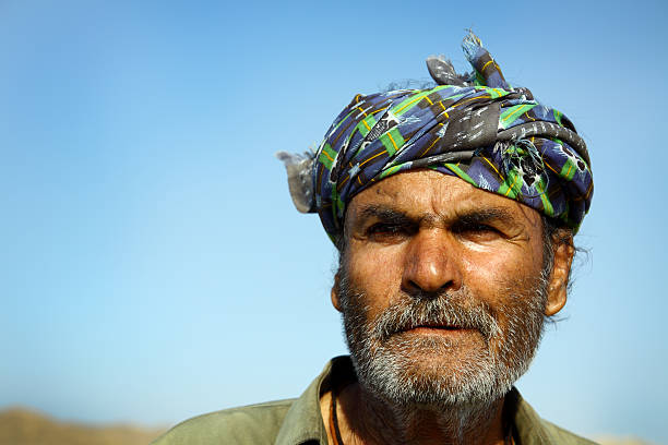 Portrait of an old Pakistani Camel Owner stock photo