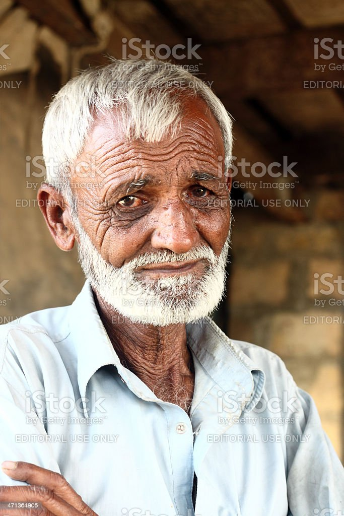 Portrait of an old Pakistani man royalty-free stock photo