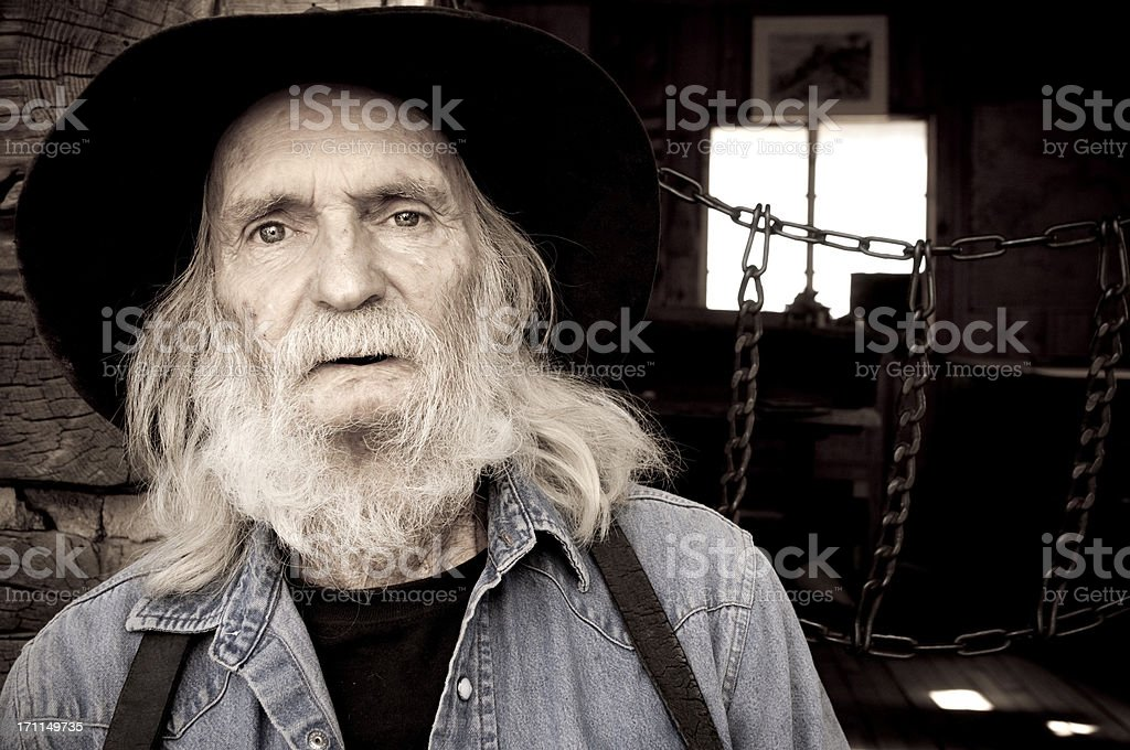 Portrait of an Old Timer royalty-free stock photo