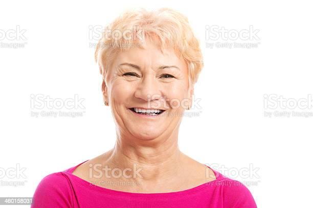 Porträt Von Die Alte Frau Im Rosa Hemd Stockfoto und mehr Bilder von Aktiver Senior
