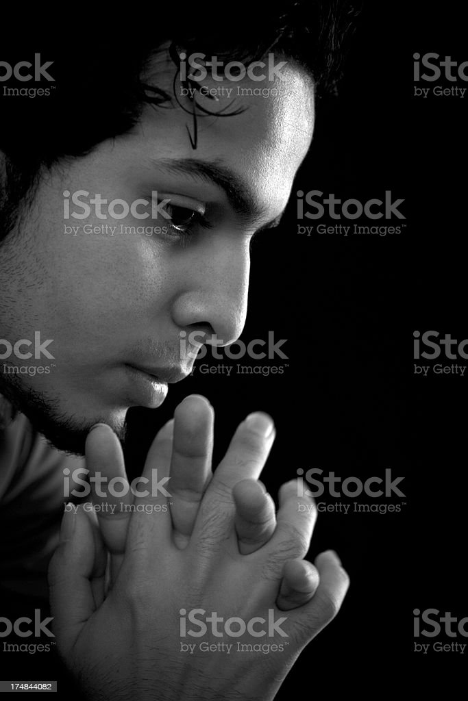 Portrait of an  young Arab man stock photo