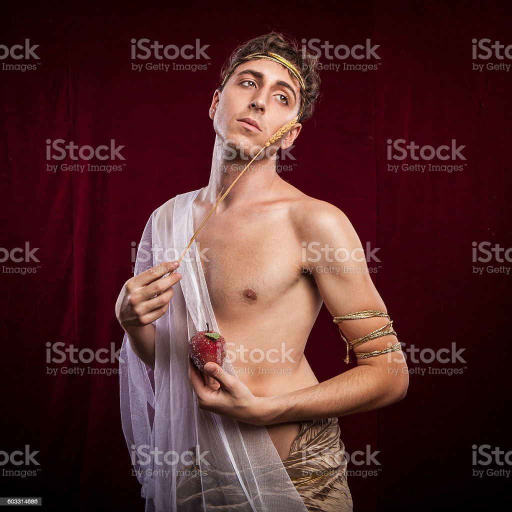 portrait of ancient roman man stock photo