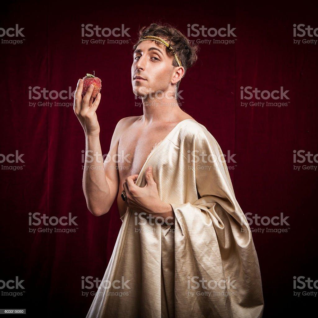 portrait of ancient roman man stock photo