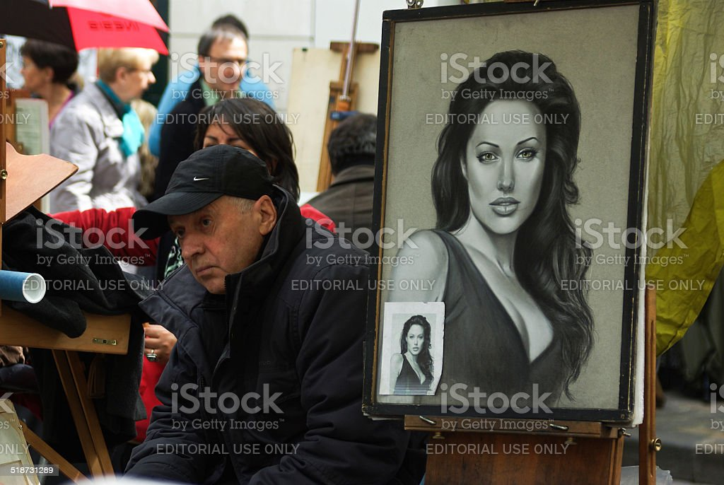 Portrait of Angelina Jolie stock photo