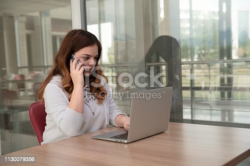 857213750istockphoto Portrait of angry young woman talking phone 1130079356