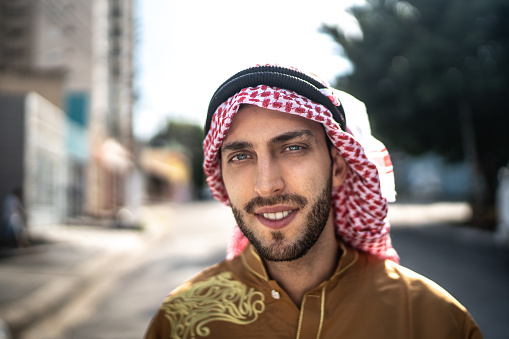 Portrait of Arab Middle East man at street