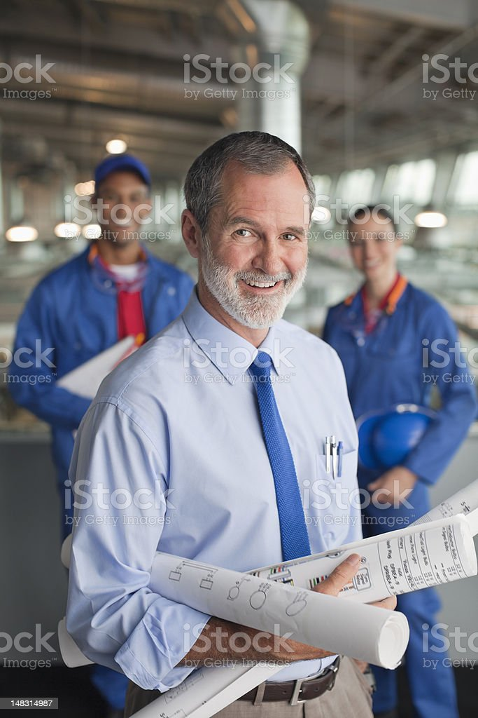 Portrait of architect and engineers royalty-free stock photo