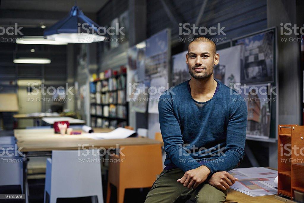 Portrait of architect - foto stock