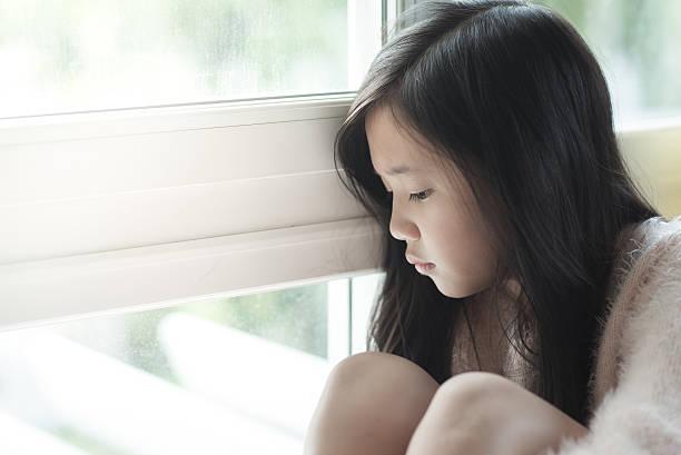 Portrait de belle fille triste asiatique - Photo