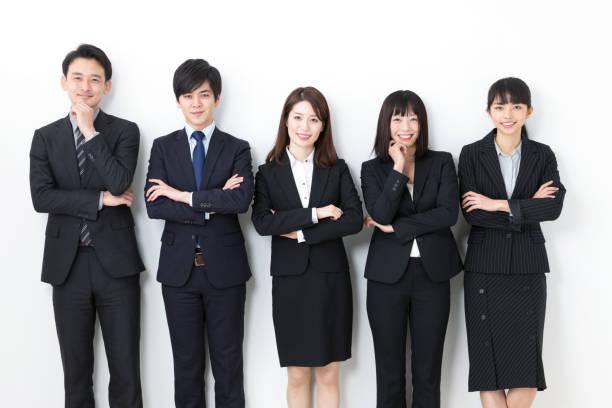 白い背景のアジア ビジネス グループの肖像画 - ビジネスフォーマル ストックフォトと画像