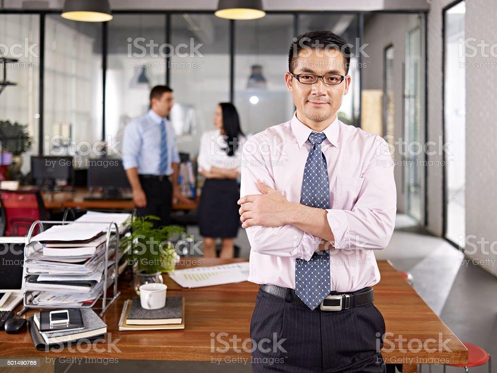 アジアの実業家のポートレート ストックフォト