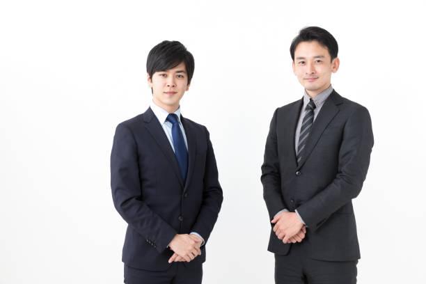 白い背景のアジアのビジネスマンの肖像画 - 男性のみ ストックフォトと画像