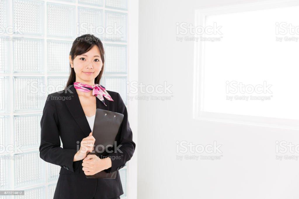 アジアのビジネスウーマンの肖像画のオフィス ストックフォト