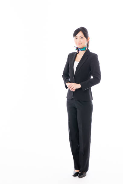 portrait of asian businesswoman isolated on white background young asian woman in white background only young women stock pictures, royalty-free photos & images