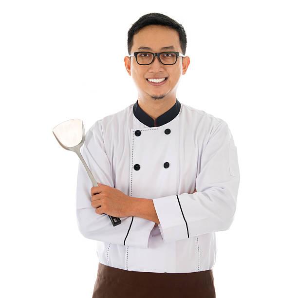 Portrait of Asian chef stock photo