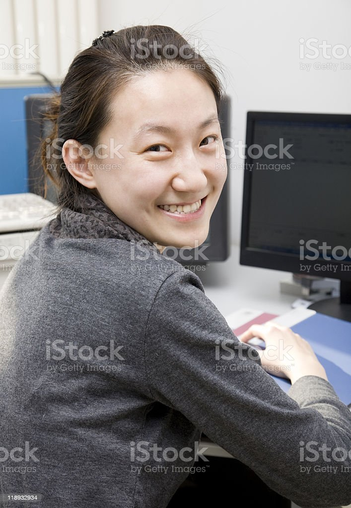 portrait of asian college student royalty-free stock photo