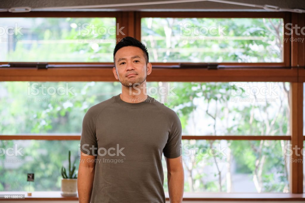 アジアの創造的なビジネスマンの肖像画 ストックフォト