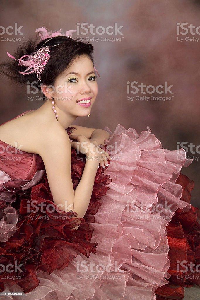 portrait of asian girl stock photo