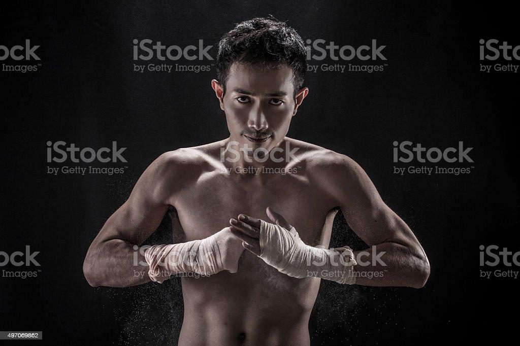 Portrait of Asian guy stock photo