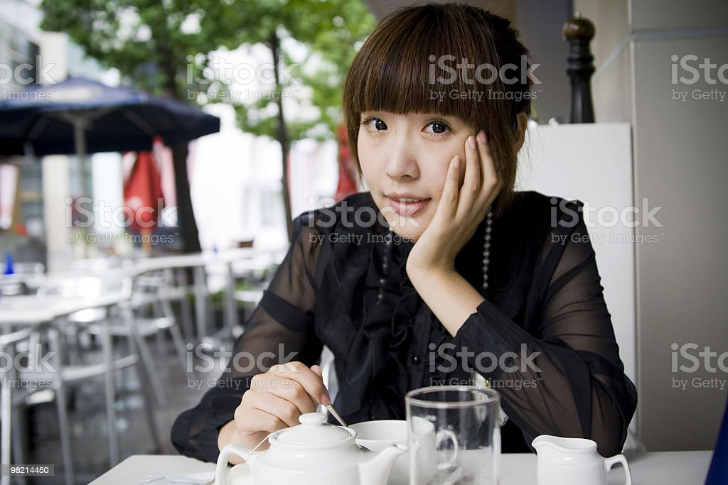 Portrait of asian lady royalty-free stock photo
