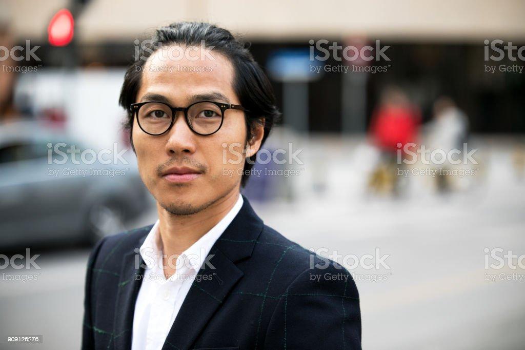 Portrait of Asian man. stock photo
