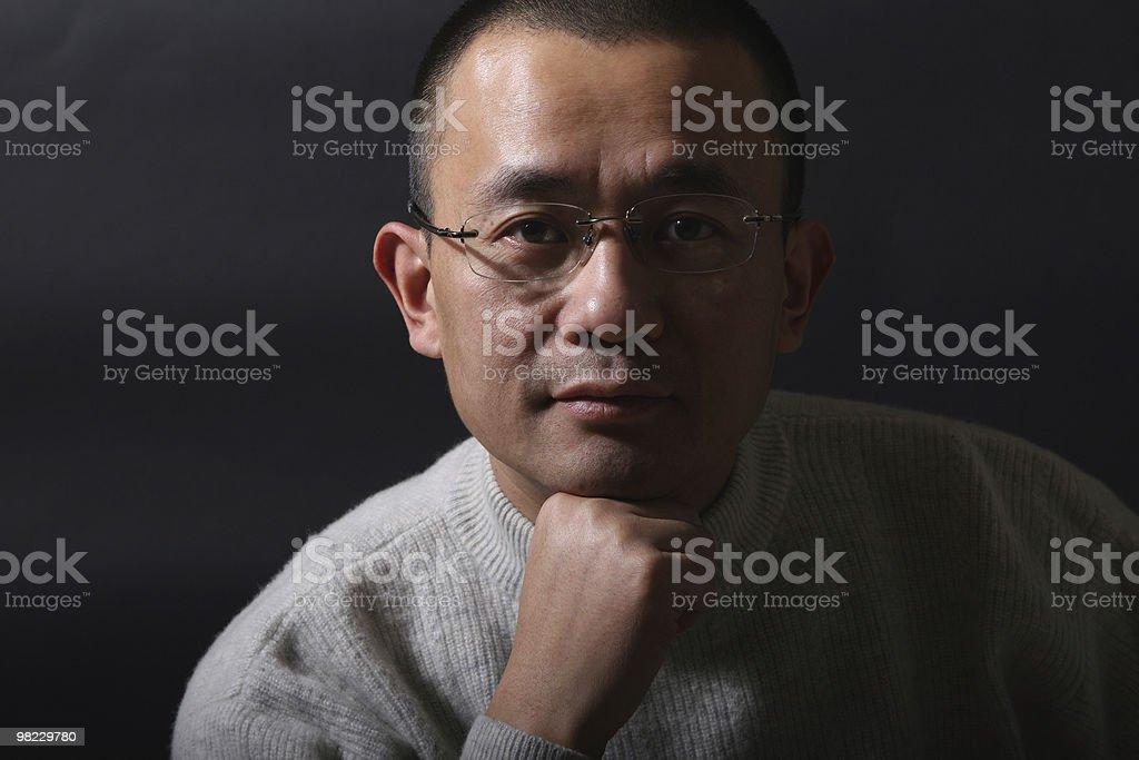 portrait of asian man royalty-free stock photo