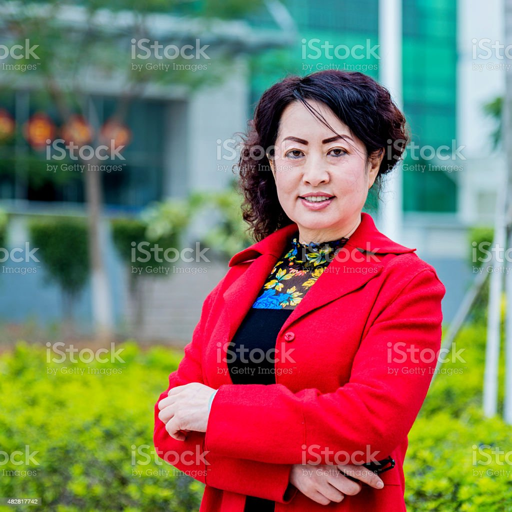 portrait of asian mature woman stock photo & more pictures of 2015