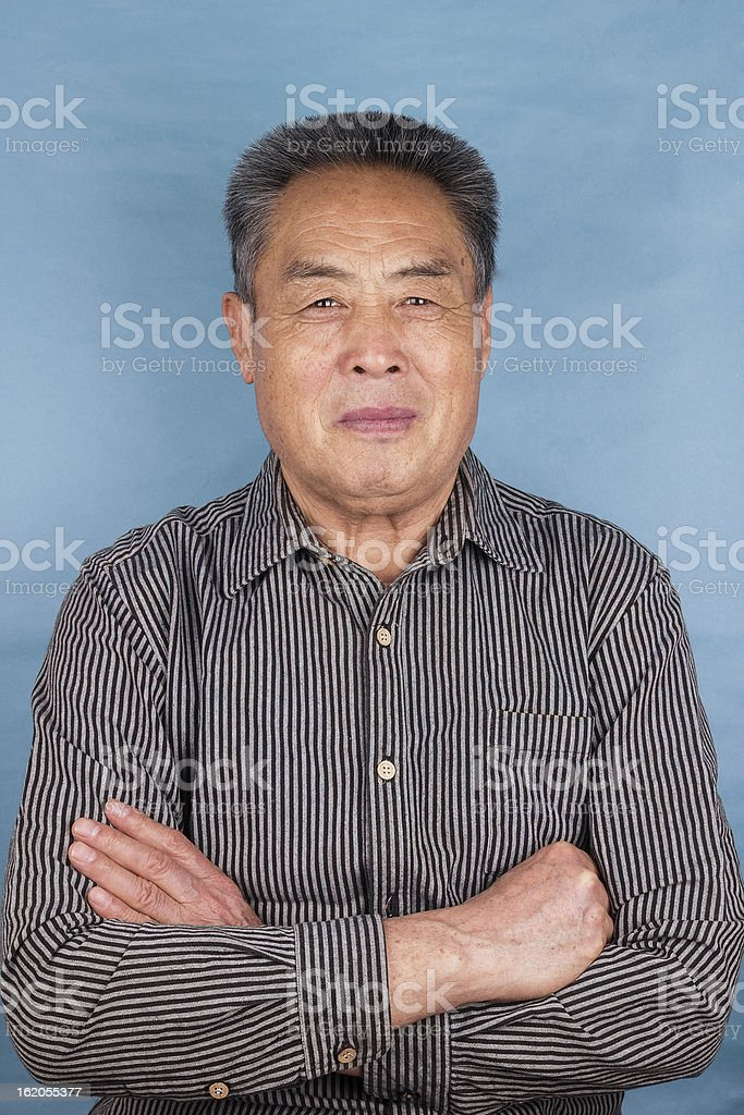 portrait of asian senior man-smiling and confidence royalty-free stock photo