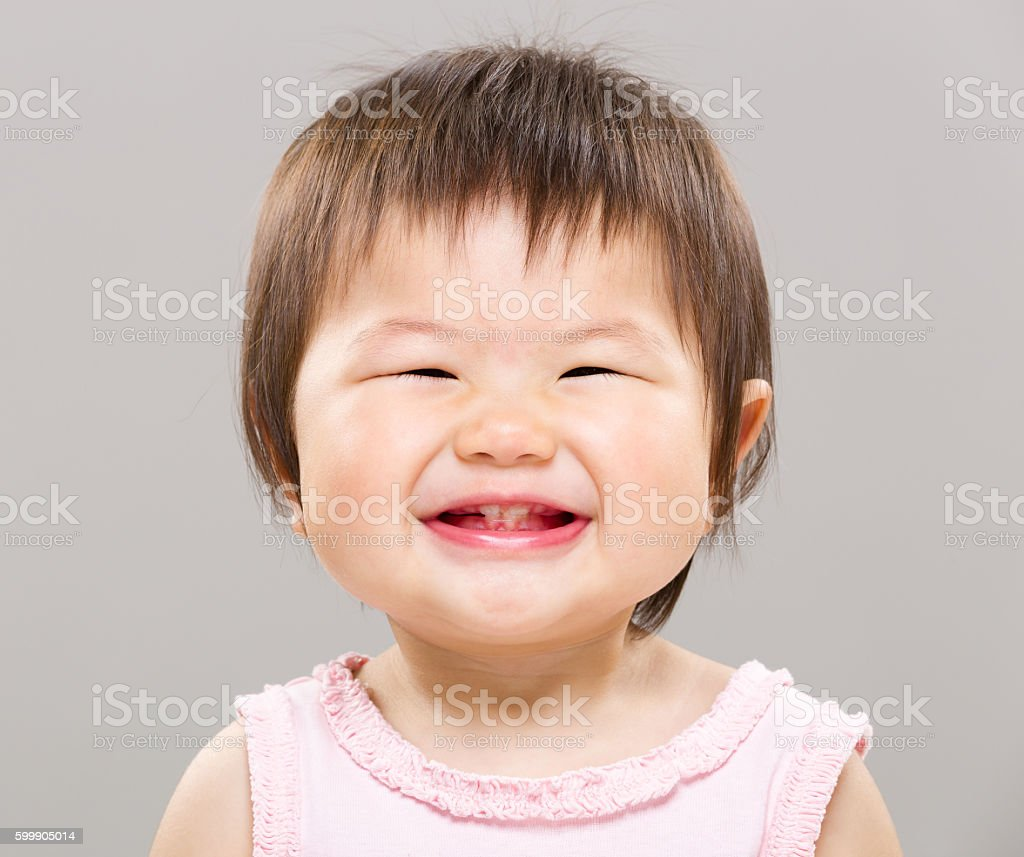 Portrait of Asian toddler stock photo