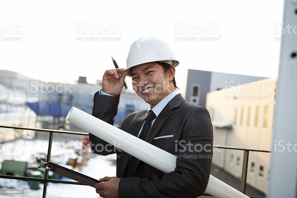 portrait of asian young architect royalty-free stock photo