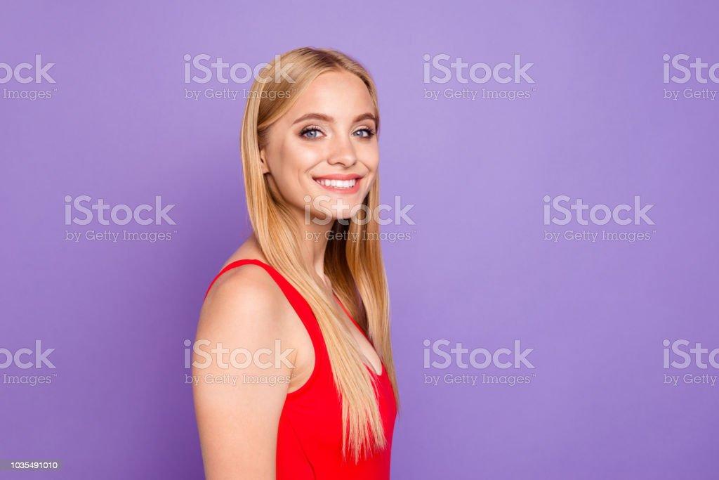 Hermosa Atractivo Alegre Estudiante De Retrato Rubia Sonriente Niña jqMzGSpULV