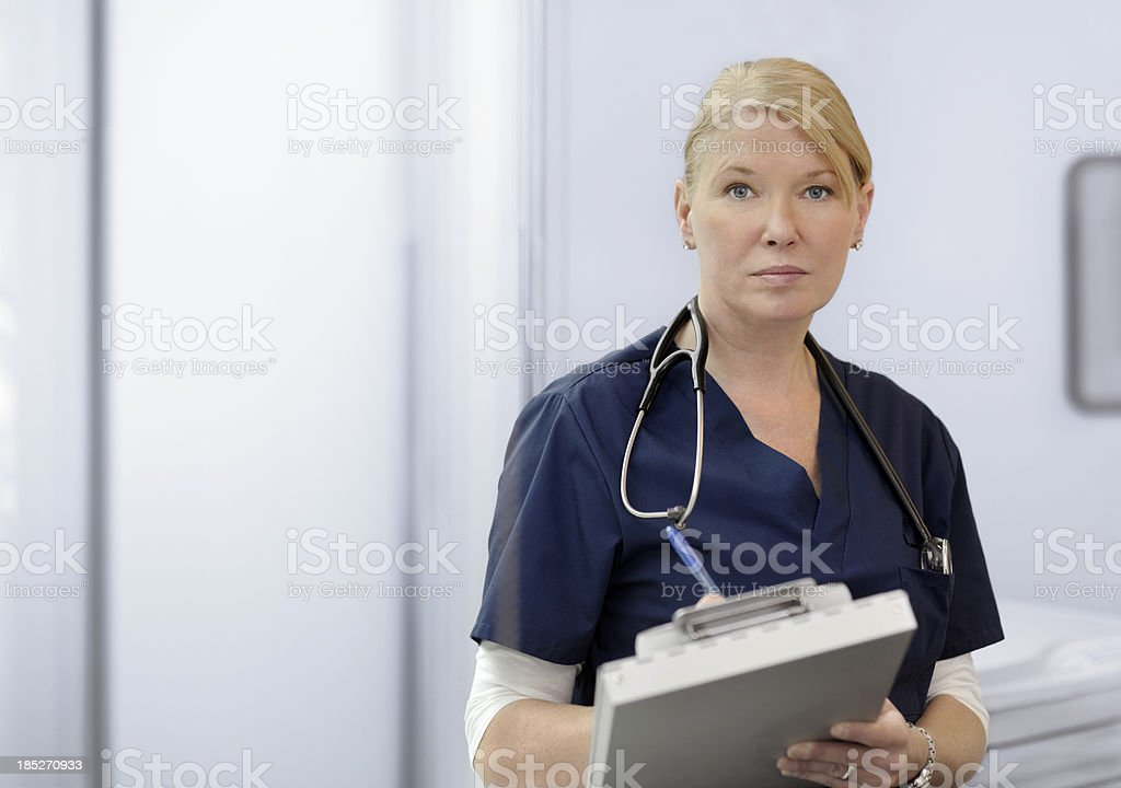 Portrait of Attractive Female Doctor royalty-free stock photo