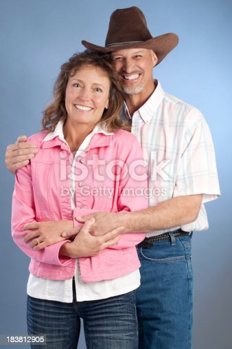 529076288 istock photo Portrait of Attractive Happy Mature Western Couple 183812905
