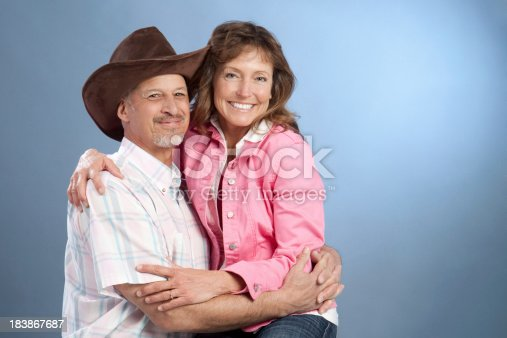 529076288 istock photo Portrait of Attractive Happy Mature Western Couple 183867687