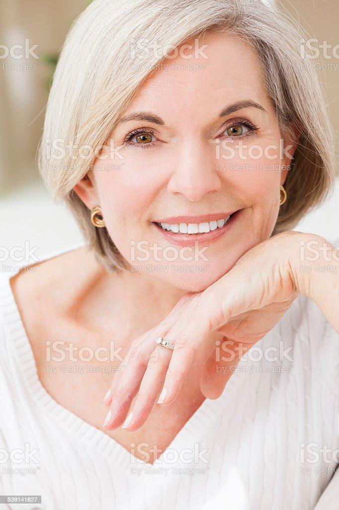 Portrait of Attractive Senior Woman stock photo