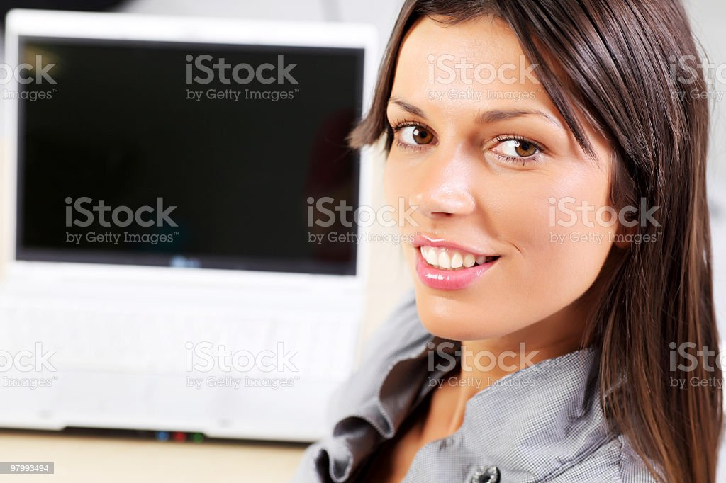 Portrait of attractive woman at workplace. royalty-free stock photo