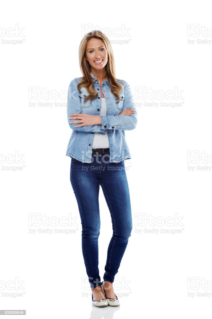 Portrait of attractive woman in casuals stock photo