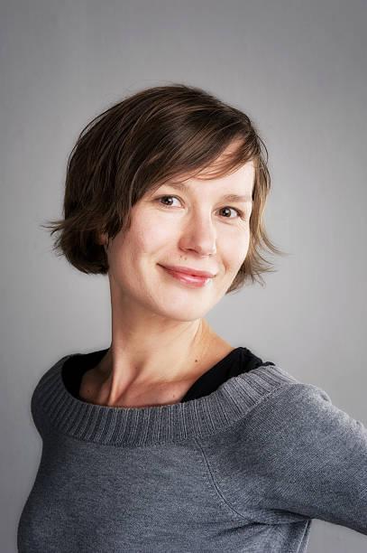 Portrait of attractive woman stock photo