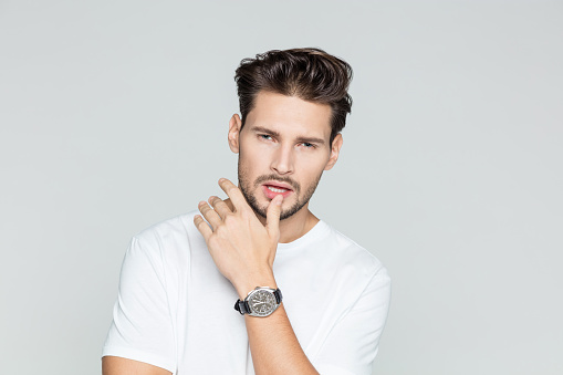 Portrait Of Attractive Young Man Stock Photo - Download Image Now