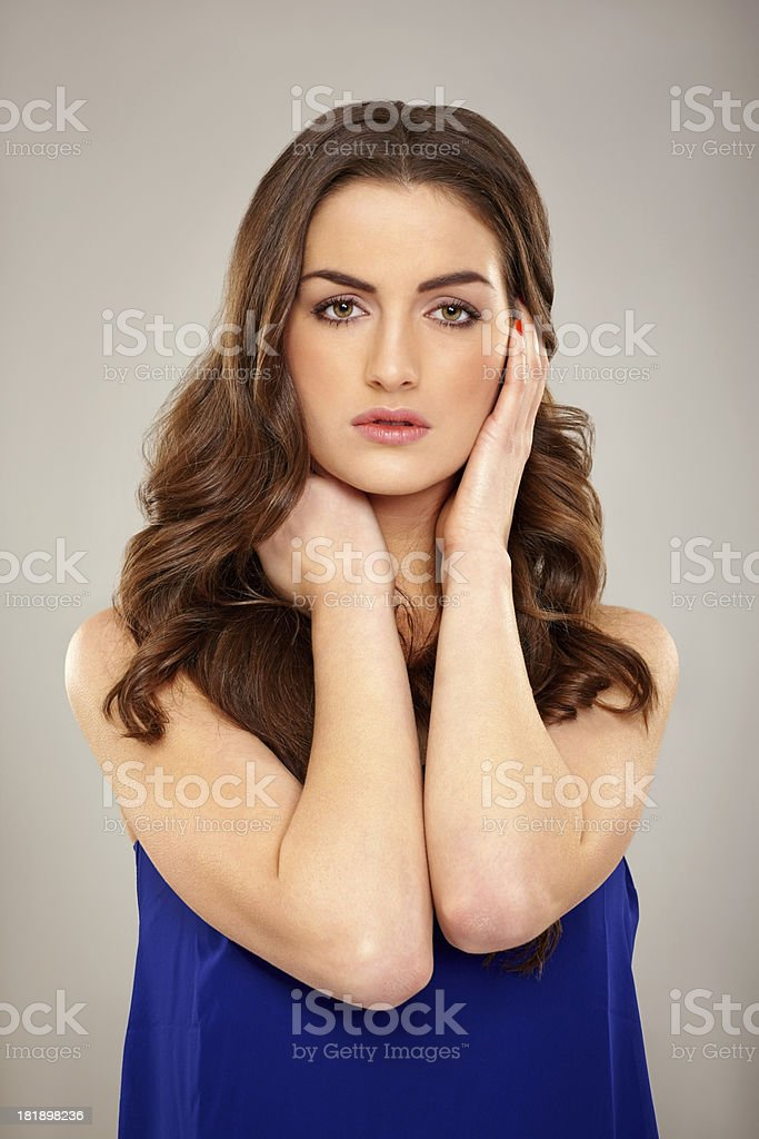 Portrait of attractive young woman posing royalty-free stock photo