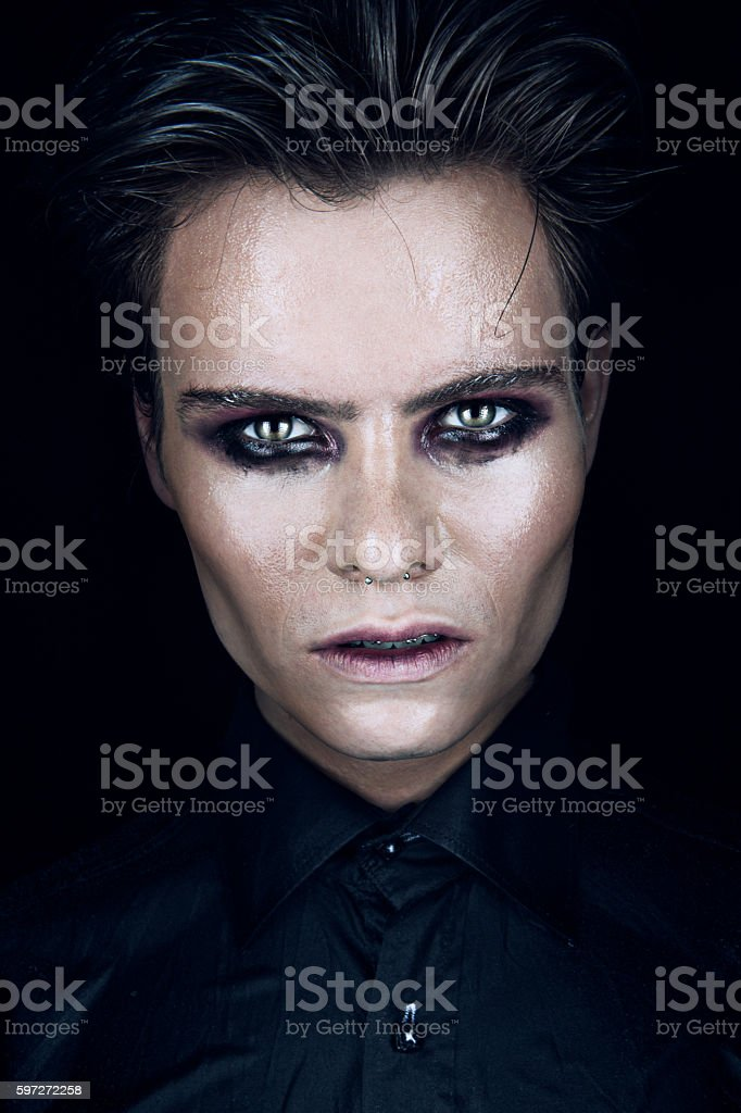 portrait of bad man royalty-free stock photo