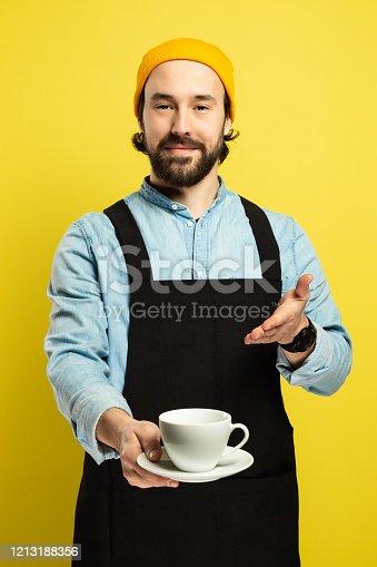 istock Portrait of Barista, Shop Worker 1213188356