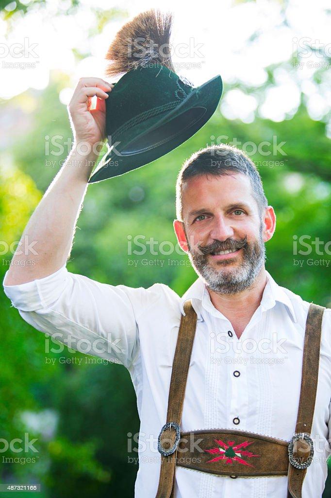 Porträt eines bayerischen Mann – Foto