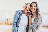 istock Portrait of beautiful adult mother and daughter 656733164