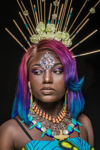 Porträt der schönen afrikanischen Frau – Foto