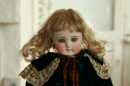 Antique German doll  dating from 1880's. Lightbox:
